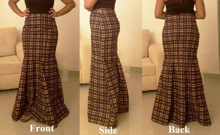 Simple Ways On How to Cut Six Pieces Skirt