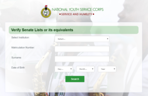 NYSC 2019 Batch B Senate List (How To Check)