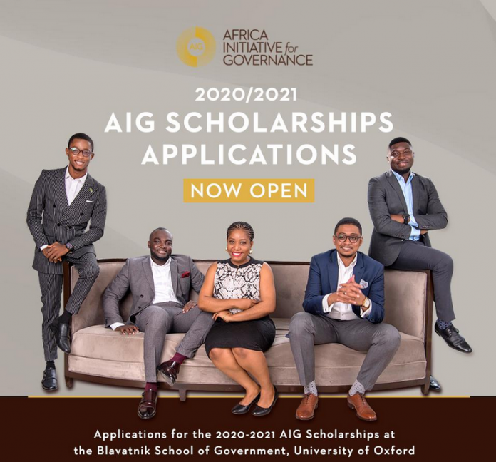 Africa Initiative for Governance (AIG) Scholarships 2020/2021 for Study in the University of Oxford, UK