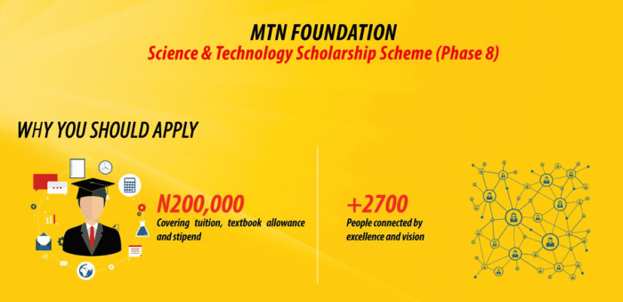 MTN Foundation Scholarship 2019 For Science and Technology Undergraduate