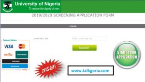 The University of Nigeria (UNN) Post UTME Form 2019-2020 Is Currently Out
