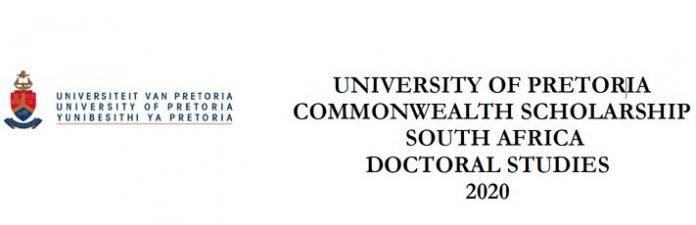 University of Pretoria Commonwealth Doctoral Scholarships 2020 for study in South Africa
