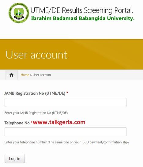 Apply for IBBU Post UTME Screening