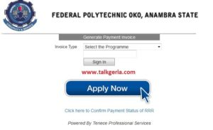 Federal Poly Oko Post UTME Form 2019