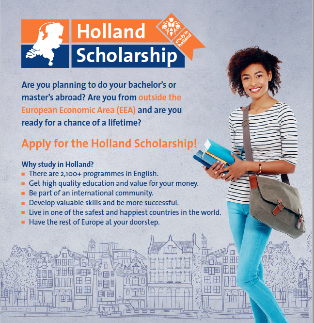 Holland Scholarships 2020-2021 for Bachelor or Masters Study in the Netherlands