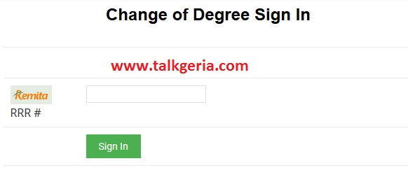 How To Change UNN Change of Degree & Course Form for 2019-2020 Session