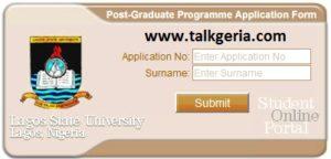 Lagos State University (LASU) Postgraduate Admission Form 2019
