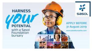 Sasol Foundation Undergraduate Bursary 2020 Program For South Africans