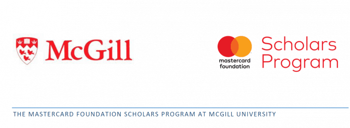MasterCard Foundation Scholars (McGill) Program 2020 at University in Canada