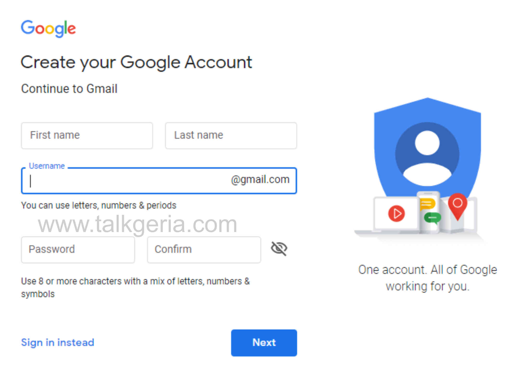 Simple Method To Create Gmail Account For Free Online
