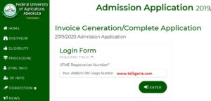 FUNAAB Admission List On School Portal | How To Check