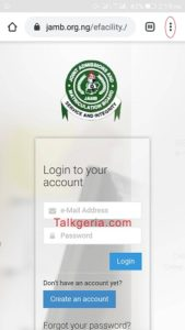 How can i Check Admission Status on JAMB CAPS Portal using mobile