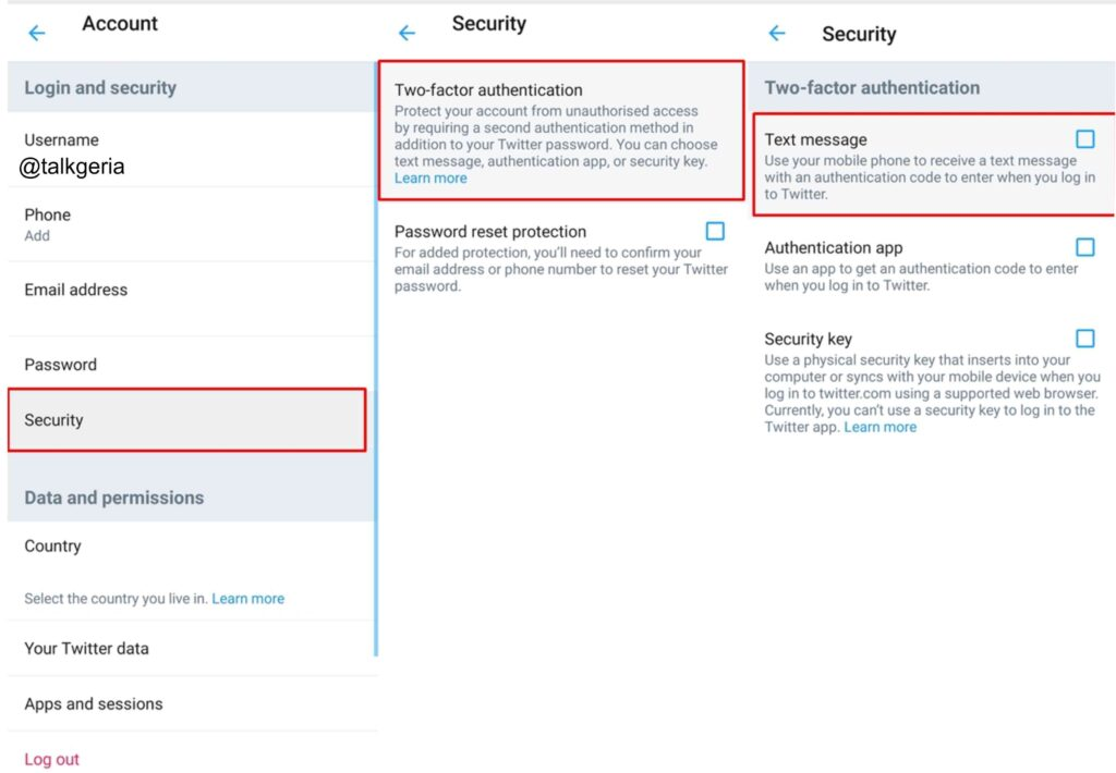 Enable Text Message Two-Factor Authentication For Twitter